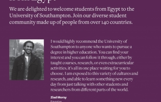 University of Southampton-Student from Egypt